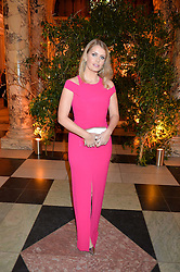 LADY KITTY SPENCER at the inaugural dinner for The Queen Elizabeth Scholarship Trust hosted by Viscount Linley at the V&A museum, London on 25th February 2016.