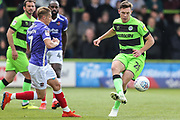Forest Green Rovers Paul Digby(20) passes the ball forward during the EFL Sky Bet League 2 match between Forest Green Rovers and Exeter City at the New Lawn, Forest Green, United Kingdom on 4 May 2019.