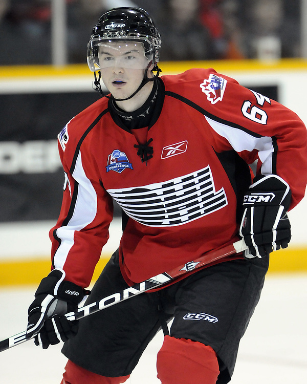Greg Nemisz of the Windsor Spitfires  competed in the 2008 CHL Canada-Russia Challenge and will also play in the 2009 SUBWAY Super Series. Photo by Aaron Bell/OHL Images.