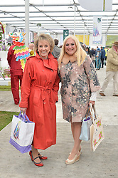 Left to right, DAME ESTHER RANTZEN and VANESSA FELTZ at the 2015 RHS Chelsea Flower Show at the Royal Hospital Chelsea, London on 18th May 2015.