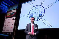 UTRECHT -  Jeroen Boesmans spreekt op het NVG congres met als thema 'vinden& binden'. COPYRIGHT KOEN SUYK