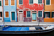 Street scene.  Burano, Italy