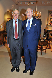 Left to right, The 7th EARL HOWE President of LAPADA and LORD CHADLINGTON Chairman of LAPADA at a preview evening of the annual London LAPADA (The Association of Art & Antiques Dealers) antiques Fair held in Berkeley Square, London on 18th September 2012.