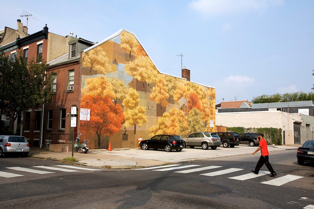 UNITED STATES-PHILADELPHIA-Mural. PHOTO: GERRIT DE HEUS.VERENIGDE STATEN-PHILADELPHIA- Muurschildering. COPYRIGHT GERRIT DE HEUS