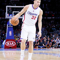 27 December 2014: Los Angeles Clippers forward Blake Griffin (32) dribbles during the Toronto Raptors 110-98 victory over the Los Angeles Clippers, at the Staples Center, Los Angeles, California, USA.