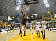 Feb 19, 2011; Long Beach, CA, USA; Montana Grizzlies center Brian Qvale (41) shoots the ball against the Long Beach State 49ers at the Walter Pyramid. Long Beach State defeated Montana 74-56.
