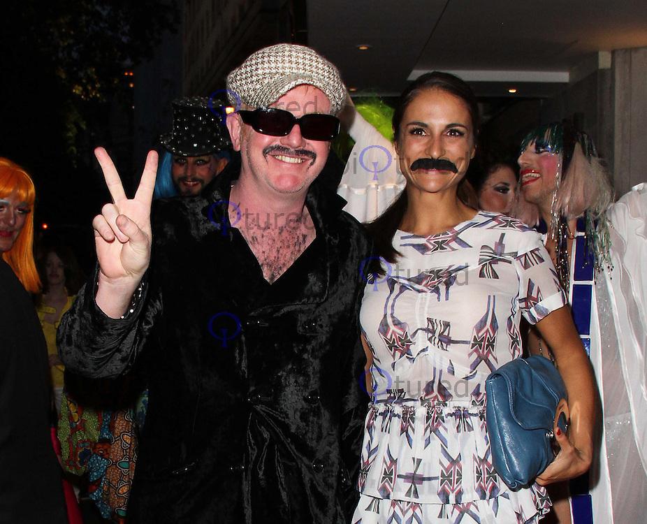Chris Evans; Natasha Shishmanian Freddie For A Day - Freddie Mercury 65th Birthday Anniversary, Savoy Hotel, London, UK. 05 September 2011. Pictures by Richard Goldschmidt
