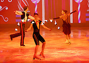 Imperial Ice Stars <br /> Nutcracker on ice <br /> Artistic Director Tony Mercer <br /> Music by Tchaikovsky<br /> at the <br /> Royal Albert Hall, London, Great Britain <br /> 28th December 2015 <br /> rehearsal <br /> <br /> Spanish Dance <br /> <br /> International ice dance sensation, The Imperial Ice Stars, return for a third season at the Royal Albert Hall with their production of The Nutcracker on Ice for Christmas 2015, as part of their 10th anniversary world tour. The Nutcracker on Ice will open on Monday 28 December for a strictly limited season of 12 performances.<br /> <br /> <br /> Photograph by Elliott Franks <br /> Image licensed to Elliott Franks Photography Services
