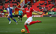 Charlton Athletic striker, Tony Watt (32) back in the Charlton Athletic attack during the Sky Bet Championship match between Charlton Athletic and Blackburn Rovers at The Valley, London, England on 23 January 2016. Photo by Matthew Redman.