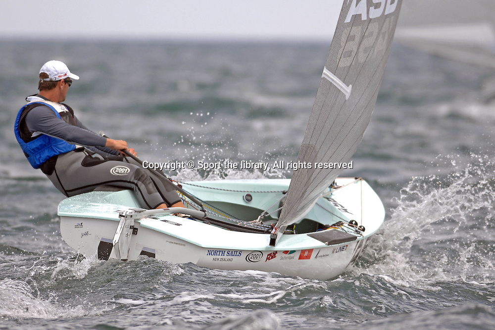 Dan Slater (NZL)<br /> Sailing - 2008 Sail Melbourne<br /> Finn Gold Cup,<br /> 2008 Finn World Championship<br /> Black Rock Yacht Club<br /> 27th January 2008<br /> &copy; Sport the library / Jeff Crow