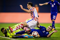 Kyriakos Papadopoulos of Greece during the football match between National teams of Croatia and Greece in First leg of Playoff Round of European Qualifiers for the FIFA World Cup Russia 2018, on November 9, 2017 in Stadion Maksimir, Zagreb, Croatia. Photo by Ziga Zupan / Sportida