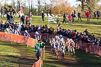 ILLUSTRATION DEPART COURSE FEMMES ELITE  - 11.01.2015 - Cyclo cross - Championnats de France Femmes - Pontchateau<br /> Photo : Vincent Michel / Icon Sport