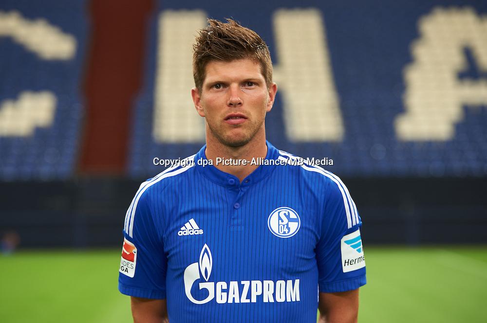 German Soccer Bundesliga 2015/16 - Photocall of FC Schalke 04 on 17 July 2015 in Gelsenkirchen, Germany: Klaas-Jan Huntelaar.