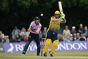 Hampshire all-rounder Gareth Andrew during the NatWest T20 Blast South Group match between Middlesex County Cricket Club and Hampshire County Cricket Club at Uxbridge Cricket Ground, Uxbridge, United Kingdom on 27 May 2016. Photo by David Vokes.