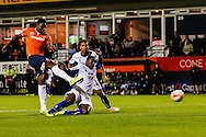 Pelly Ruddock of Luton Town scores his team's first goal to make it 1-1 during the Sky Bet League 2 match at Kenilworth Road, Luton<br /> Picture by David Horn/Focus Images Ltd +44 7545 970036<br /> 19/08/2014