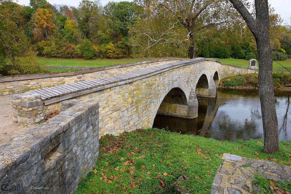 Burnside Bridge Antietam National Battlefield, Sharpsburg, Maryland, USA.