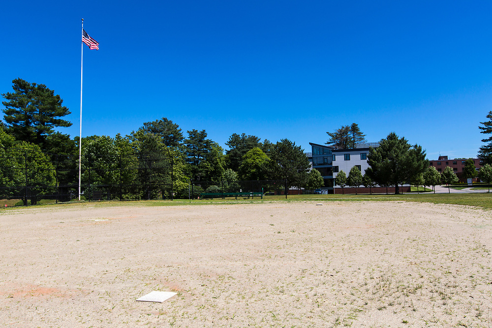 Baseball diamond, Mount Ida College, Newton, MA, 6/19/18.