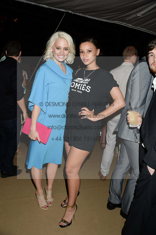 The Johnnie Walker Gold Label Reserve Party aboard John Walker & Sons Voyager, St.Georges Stairs Tier, Butler's Wharf Pier, London, UK on 17th July 2013.<br /> Picture Shows:-Kimberly Wyatt & Leah Weller.