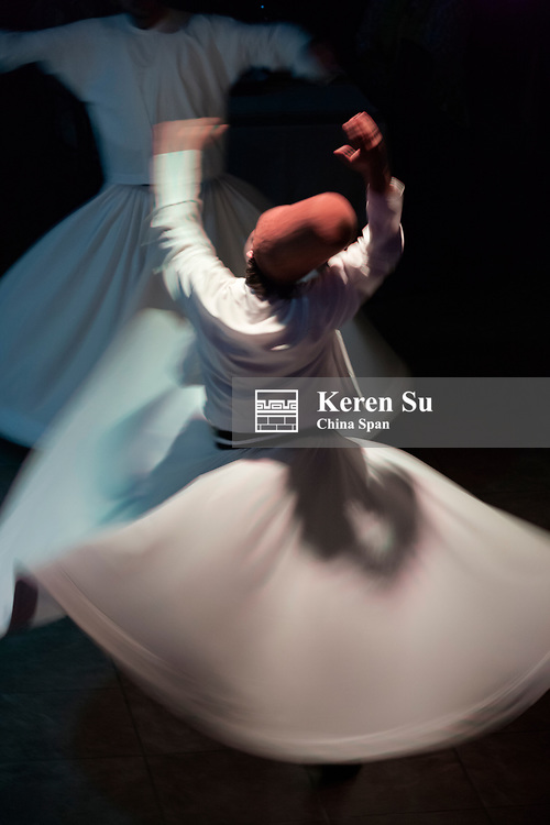 Whirling dervishes dancing, Istanbul, Turkey