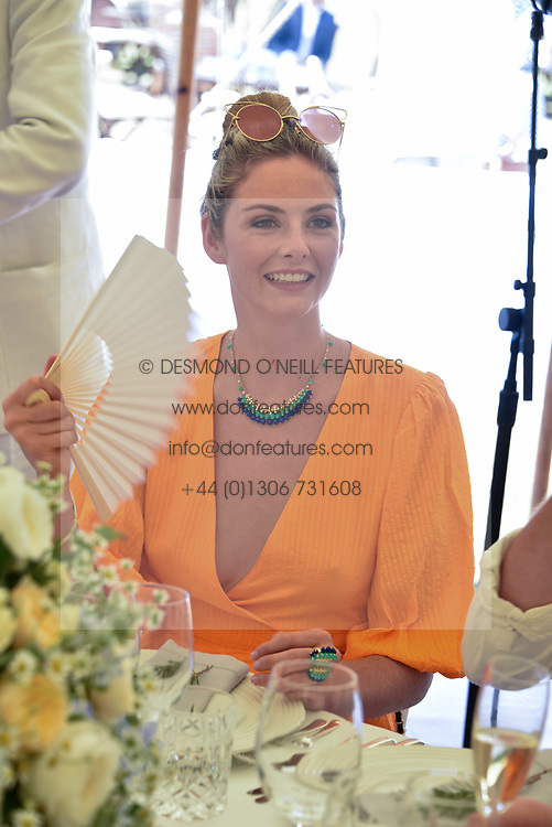 Tamsin Egerton at the 'Cartier Style et Luxe' enclosure during the Goodwood Festival of Speed, Goodwood House, West Sussex, England. 15 July 2018.