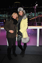 Left to right, NETTE MASON and TRINNY WOODALL at Skate presented by Tiffany & Co at Somerset House, London on 22nd November 2010.