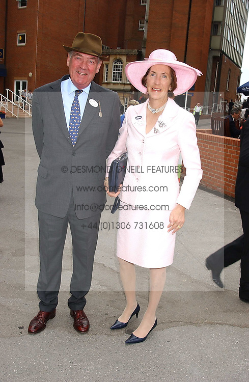 LORD & LADY VESTEY at the King George VI and The Queen Elizabeth Diamond Stakes sponsored by De Beers held at Newbury Racecourse, Berkshie on 23rd July 2005.<br />