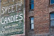 Butte, Montana, antique mural, uptown