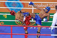 Ashgabat 2017 - 5th Asian Indoor & MartialArts Games 24-09-2017. Kickboxing - AHamza Abughazleh (JOR) v Robin Catalan (PHI) - Mens LK 51Kg division