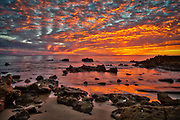 USA, California, Laguna Beach. Sunset over the Pacific Ocean.