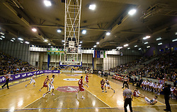 Basketball match of NLB League between KK Union Olimpija and KK Crvena zvezda,  on October 24, 2009, Arena Tivoli, Ljubljana, Slovenia.  Union Olimpija won 94:76.  (Photo by Vid Ponikvar / Sportida)
