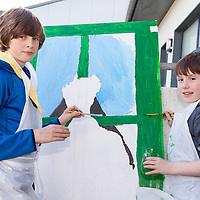 9th Clare Ennistymon Cub Branch repainting an iconic murial in the town. The project is in conjunction with the Ennistymon Tidy Towns and is possible due to a grant from the  Clare County Council Local Area Enhancement Scheme. The Ennistymon Tidy Towns meet every Monday between 7-8pm for Clean Ups and meet in the square. The Tidy Towns Committee meetings are held on the first Wednesday of every month at 8:30 pm in the Family Resource Centre, All are welcome