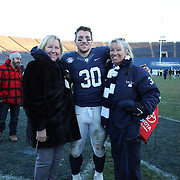 Yale running back Tyler Varga, with his mom Hannele and grandmother Marita Sundberg after the Yale Vs Princeton, Ivy League College Football match at Yale Bowl, New Haven, Connecticut, USA. 15th November 2014. Photo Tim Clayton