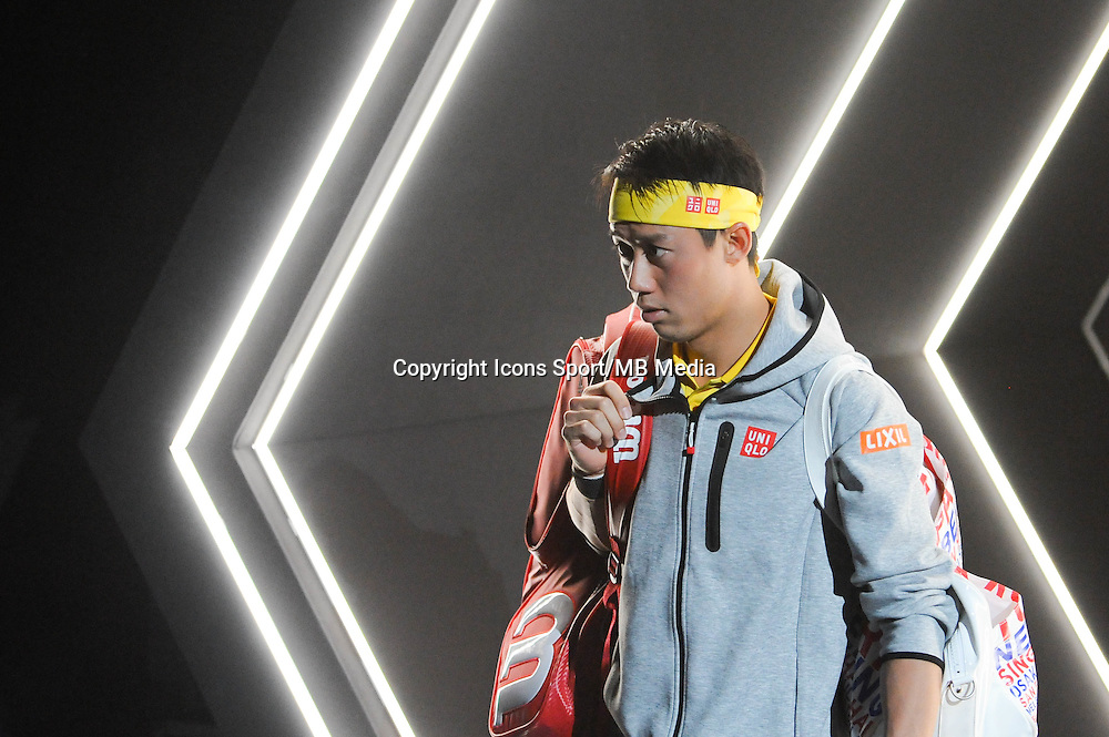 Kei Nishikori versus Victor Troicki at the ATP World Tour Masters 1000 Paris