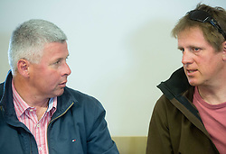 Gregor Benedik and Klemen Bergant during general assembly of Alpine Committee of Ski Association of Slovenia (SZS) on April 7, 2015 in SZS, Ljubljana, Slovenia. Photo by Vid Ponikvar / Sportida