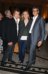 Left to right, NICKY HASLAM, ALANNAH WESTON and JAY JOPLING at the opening of a new exhibition 'Diane Arbus Revelations' a major retospective of the Legendary New York Photographer at the V&A museum on 11th October 2005.<br />