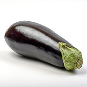 Fresh and organic Eggplant on white background