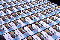 UTRECHT -  Naambordjes met de namen van de deelnemers  van het NVG congres met als thema 'vinden& binden'. COPYRIGHT KOEN SUYK