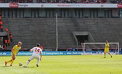 12.04.2015, RheinEnergieStadion, Köln, GER, 1. FBL, 1. FC Köln vs TSG 1899 Hoffenheim, 28. Runde, im Bild Leere Raenge auf der Suedtribuene // during the German Bundesliga 28th round match between 1. FC Cologne and TSG 1899 Hoffenheim at the RheinEnergieStadion in Köln, Germany on 2015/04/12. EXPA Pictures © 2015, PhotoCredit: EXPA/ Eibner-Pressefoto/ Schüler<br /> <br /> *****ATTENTION - OUT of GER*****