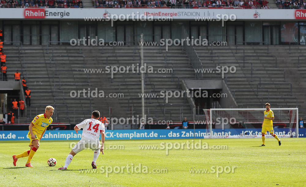 12.04.2015, RheinEnergieStadion, K&ouml;ln, GER, 1. FBL, 1. FC K&ouml;ln vs TSG 1899 Hoffenheim, 28. Runde, im Bild Leere Raenge auf der Suedtribuene // during the German Bundesliga 28th round match between 1. FC Cologne and TSG 1899 Hoffenheim at the RheinEnergieStadion in K&ouml;ln, Germany on 2015/04/12. EXPA Pictures &copy; 2015, PhotoCredit: EXPA/ Eibner-Pressefoto/ Sch&uuml;ler<br /> <br /> *****ATTENTION - OUT of GER*****