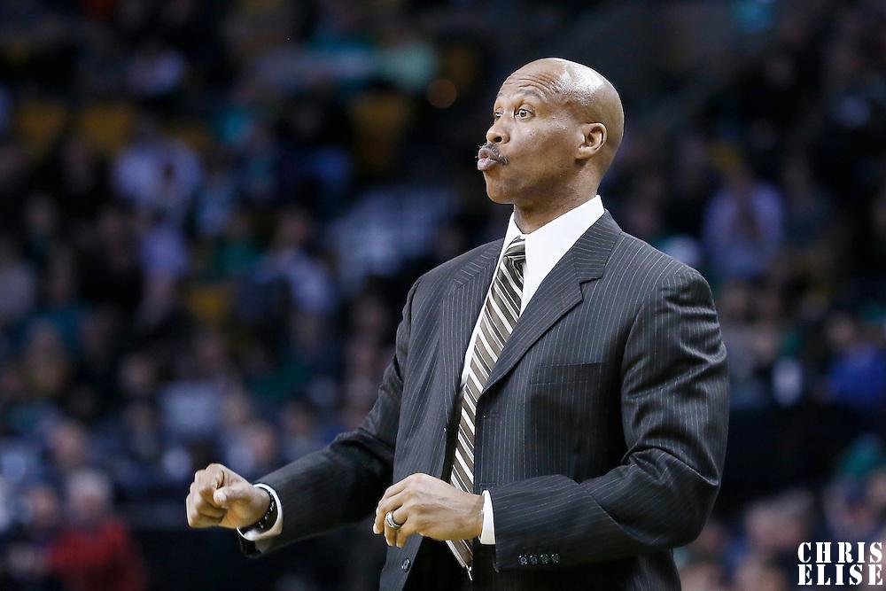 19 December 2012: Cleveland Cavaliers head coach Byron Scott reacts during the Boston Celtics 103-91 victory over the Cleveland Cavaliers at the TD Garden, Boston, Massachusetts, USA.