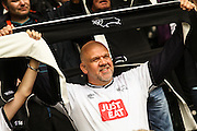Derby County fans show their support during the Sky Bet Championship match between Derby County and Wolverhampton Wanderers at the iPro Stadium, Derby, England on 18 October 2015. Photo by Aaron Lupton.