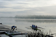 Caversham. United Kingdom; Crews Boating for an early morning training session before the GBR Rowing, 2010 World Championship Team Announcement at the GB rowing Training Base. Nr Reading Berks on Tuesday,  21/09/2010[Mandatory Credit Peter Spurrier/ Intersport Images], , Sunrise, Sunsets, Silhouettes
