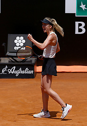 May 19, 2018 - Rome, Italy - Tennis WTA Internazionali d'Italia BNL quarter-finals.Elina Svitolina (UKR) celebrates at Foro Italico in Rome, Italy on May 19, 2018. (Credit Image: © Matteo Ciambelli/NurPhoto via ZUMA Press)