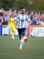 Hearts Alim Ozturk.<br /> Alloa Athletic 0 v 1 Hearts, Scottish Championship played at Recreation Park, Alloa.