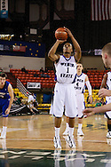 November 27th, 2010:  Anchorage, Alaska - Weber State junior guard Damian Lillard (1) shoots a free throw in the Wildcats 82-81 victory over the Drake Bulldogs in the third place game of the Great Alaska Shootout.