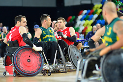 FRA v AUS at the 2015 BT World Wheelchair Rugby Challenge, Copperbox, Olympic Park, London.