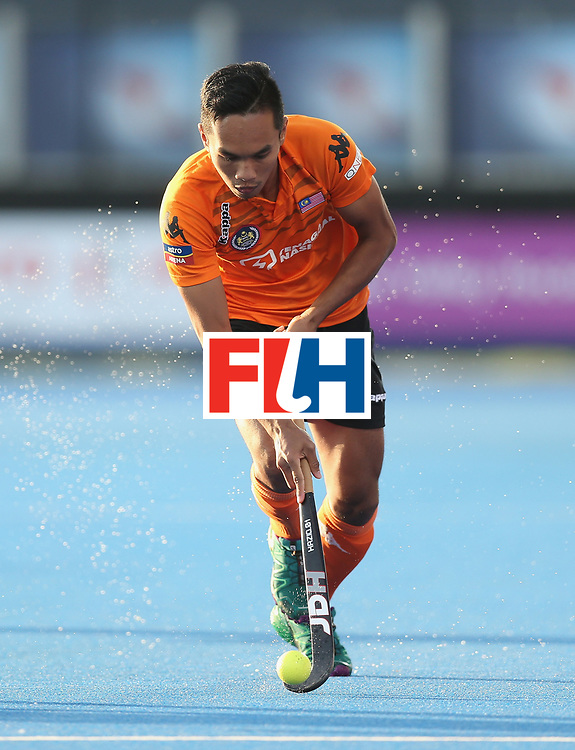 LONDON, ENGLAND - JUNE 16:  Haziq Samsul of Malaysia during the Hero Hockey World League semi final match between Argentina and Malaysia at Lee Valley Hockey and Tennis Centre on June 16, 2017 in London, England.  (Photo by Alex Morton/Getty Images)
