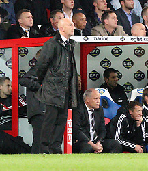 Crystal Palace Manager, Ian Holloway and Fulham Manager, Martin Jol look on- Photo mandatory by-line: Robin White/JMP - Tel: Mobile: 07966 386802 21/10/2013 - SPORT - FOOTBALL - Selhurst Park - London - Crystal Palace V Fulham - Barclays Premier League