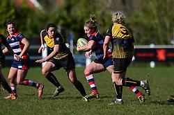 Sarah Graham of Bristol Ladies breaks forward - Mandatory by-line: Dougie Allward/JMP - 26/03/2017 - RUGBY - Cleve RFC - Bristol, England - Bristol Ladies v Wasps Ladies - RFU Women's Premiership
