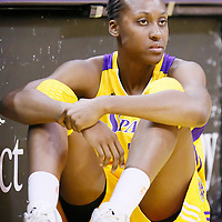 24 July 2014: Los Angeles Sparks forward/center Sandrine Gruda (7) is seen during the Phoenix Mercury 93-73 victory over the Los Angeles Sparks, at the Staples Center, Los Angeles, California, USA.